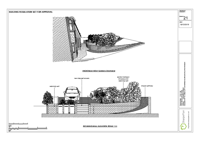 Proposed front Retaining wall