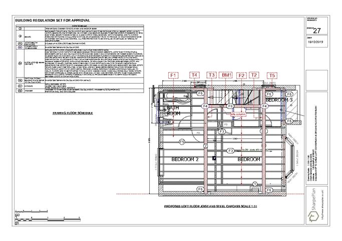 Proposed loft floor joists